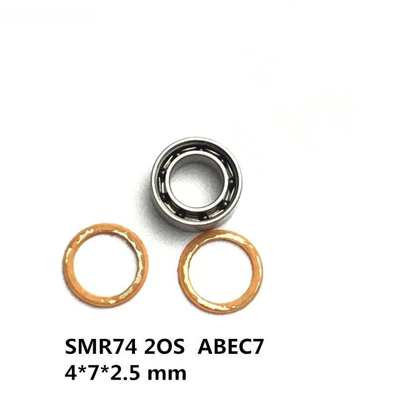 1PC SMR74 2OS 4*7*2.5 mm ABEC7 Stainless Steel Hybrid Ceramic Bearings/Fishing Reel Bearings