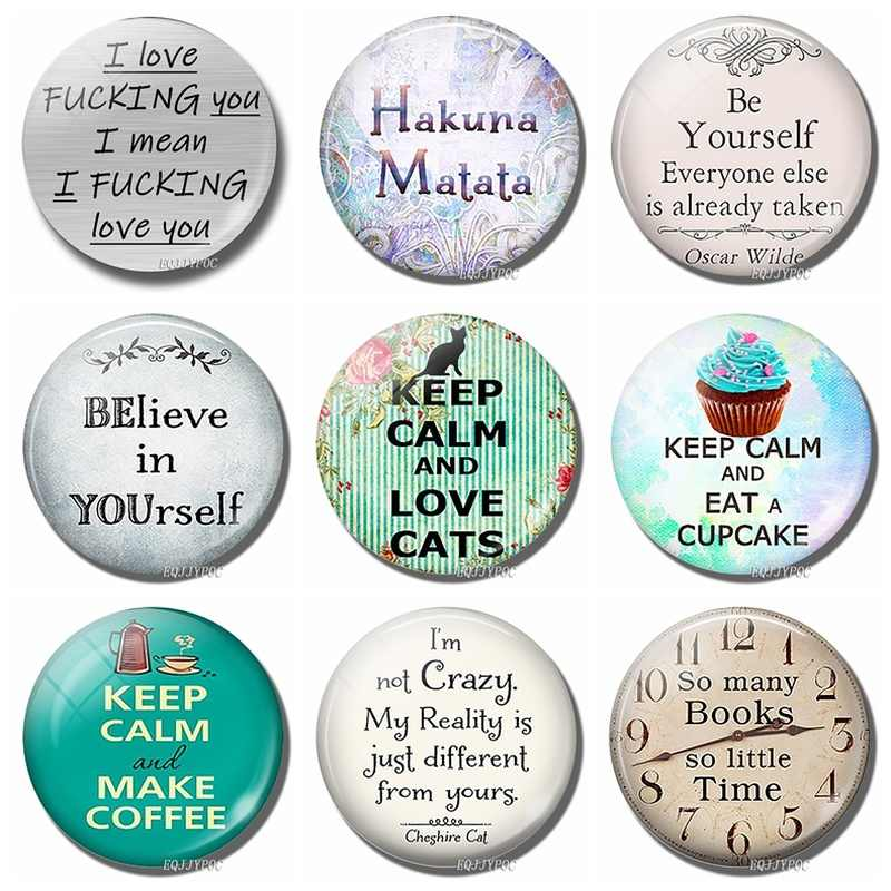 Interessante Letters Magneet Classic Inspirational Quotes Koelkast Stickers Decor Glass Dome Magnetische Message Board