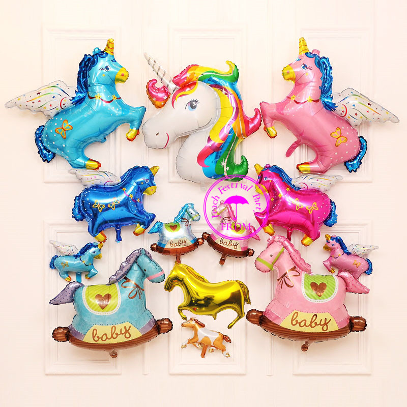 foil mylar animal balloon helium baloon decorate birthday party supplies shaped flying horse baby toys