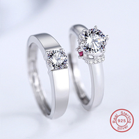 Silver Couple Ring Men And Women Finger Design Promise For Lovers 925 Sterling Silver 925 Jewelry