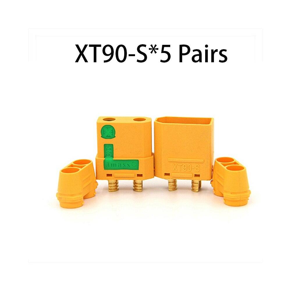 Коннектор AMASS 10 шт. XT60 XT-60 XT 60 XT90 XT60H XT60L XT60U XT60PW XT30U XT90S T Дин EC3 EC5 AS150 XT150 XT30PW XT90PW для Lipo Батарея - Цвет: XT90S