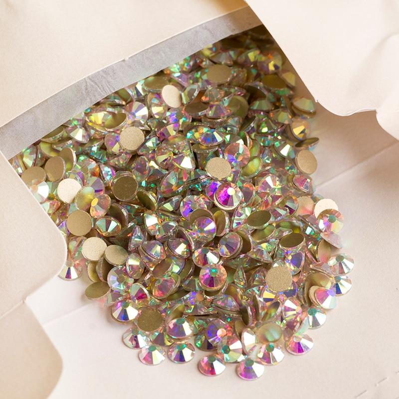 YANRUO 2058NoHF SS20 Crystal Non HotFix Rhinestones - ხელოვნება, რეწვა და კერვა - ფოტო 4