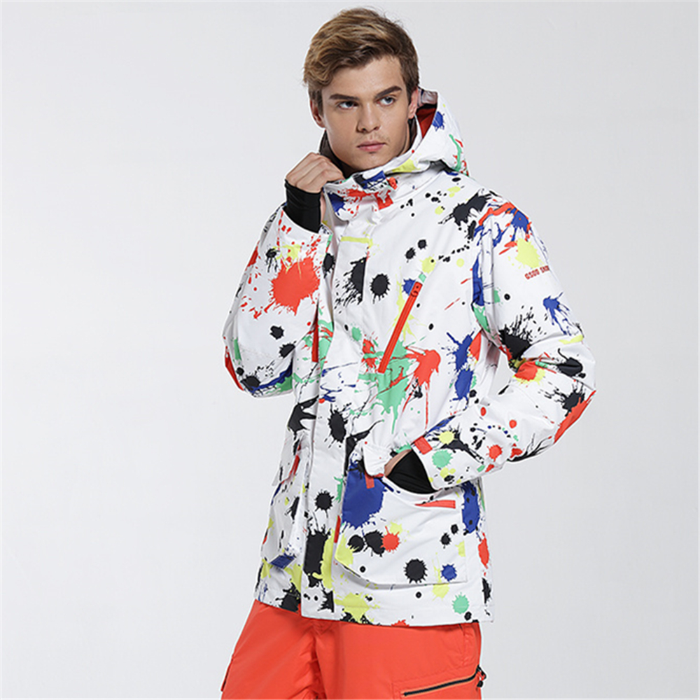 f0ceda4c52 Gsou Snow Ski Jacket Men Winter Waterproof Windproof Snowboard Jackets  Graffiti Printed Sports Jackets Cheap Male Skiing Clothes-in Skiing Jackets  from ...