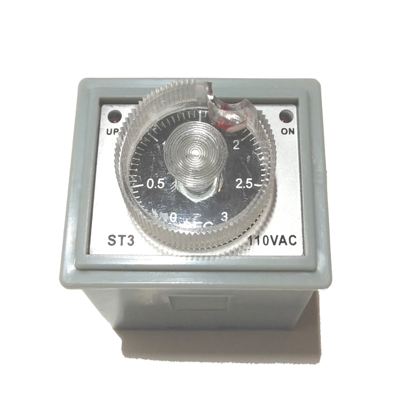 Thermal time delay relay for impulse sealer thermal time-delay switch Countdown timer pulse delay unit timer ST3 110V or 220V hhs6a correct time countdown intelligence number show time relay bring power failure memory ac220v