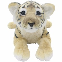 JESONN Realistic Stuffed Animals Leopard Plush Toys Tiger Cheetah Lion Panther Pillows for Children's Birthday Gifts
