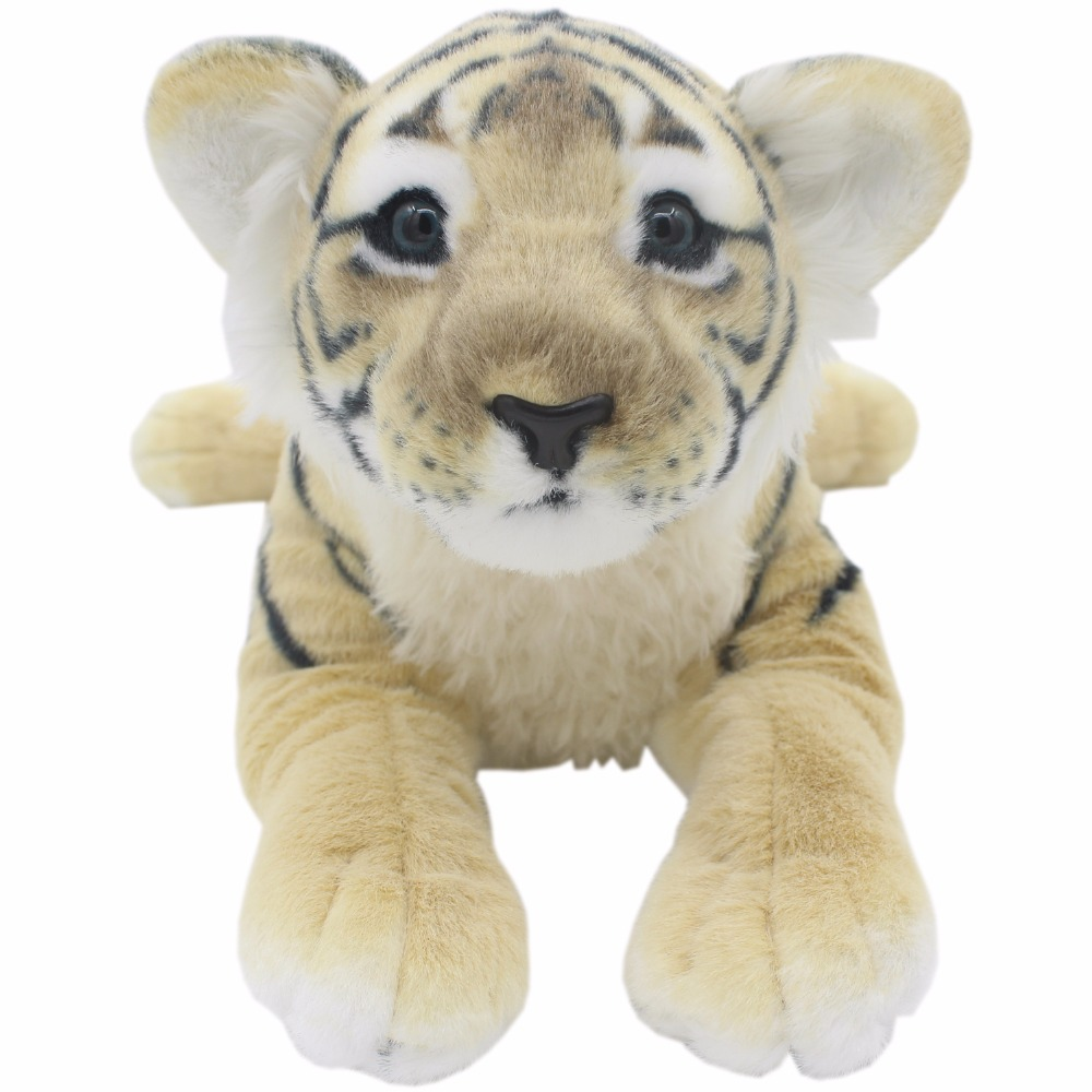 JESONN Realistic Stuffed Animals Plush Toys Tiger Pillows for Children s Birthday Gifts-in ...