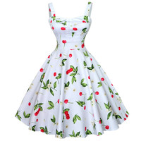 Summer Dress 2016 Vintage Rockabilly Dress Jurken 60s 50s Retro Big Swing Floral Pinup Short Long