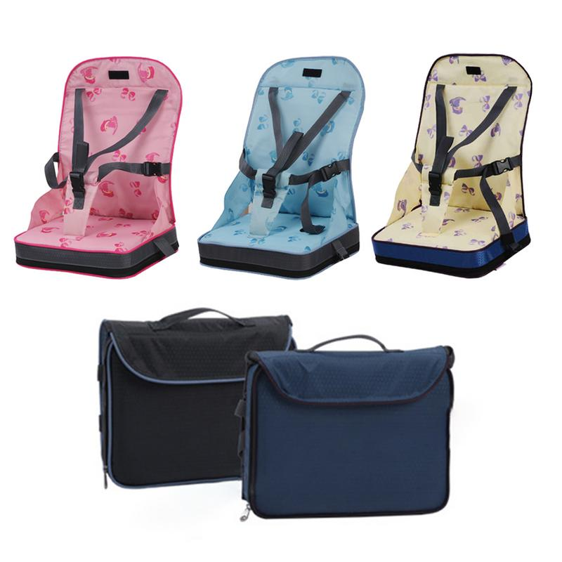 2-Baby Dining Chair Bag Seat Infant Portable Highchair Seat Bebes Travel Foldable Safety Belt Seat Feeding High Chair Cushion Mat