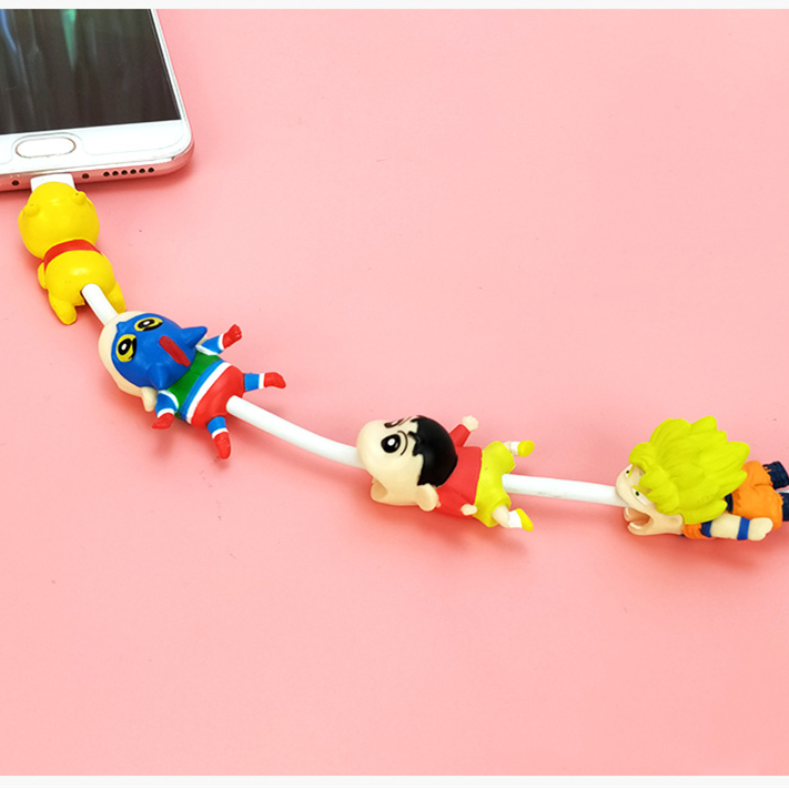 Universal bite cartoon  Crayon Shin-chan  dynamic superman iPhone accessories charger port dust plug data line protective cover