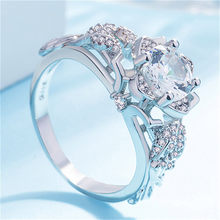 Rings For Women Fashion Horse Eye Shape Jewel Dotted Wedding Ring Gifts Bague Femme Anillos Acero Inoxidable Mujer Anelli Donna(China)
