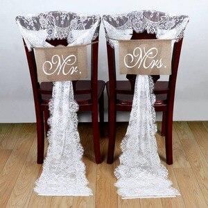 Image 5 - OurWarm beyaz çiçek dantel masa koşucu gül masa örtüsü sandalye kanat akşam yemeği ziyafet vaftiz düğün parti masa dekorasyon 300cm