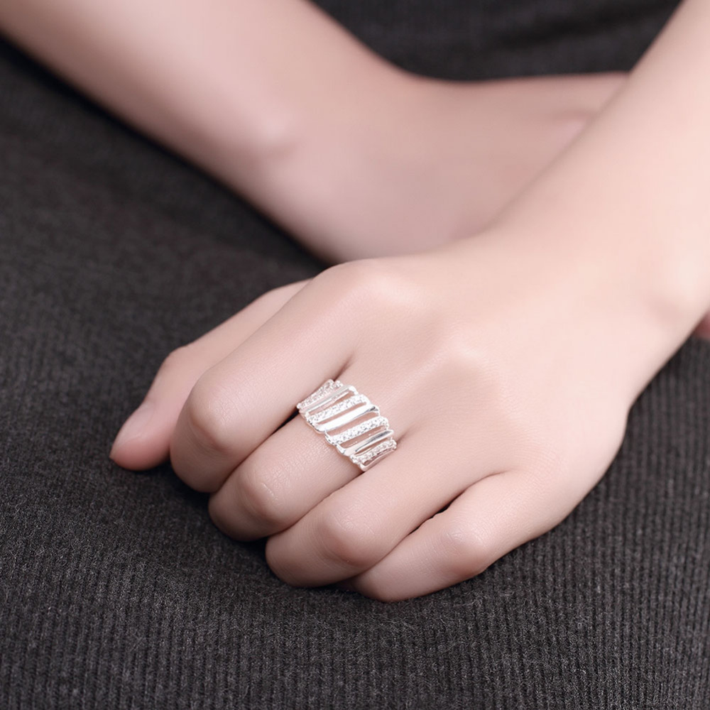 PATICO Nice 925 Silver Rings Fashion Jewelry Grils Engagement ...