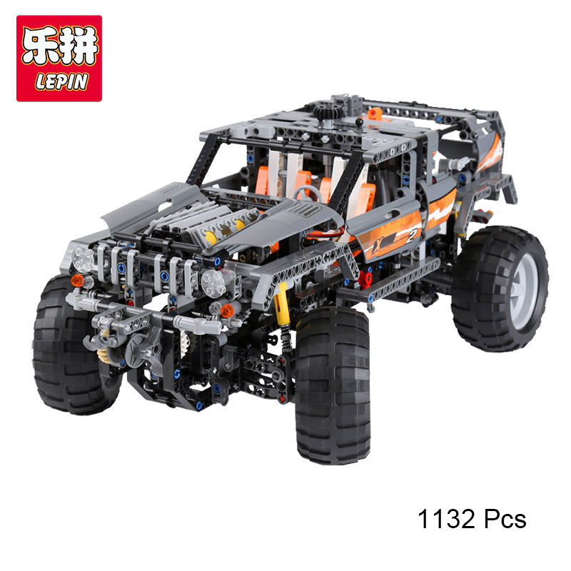 Lepin 20030 Technic Series Off-Roader Set Children Educational Building Blocks Bricks Toys Model Gifts Legoing 8297 1132 Pcs lepin 20030 1132pcs technik ultimate off roader cars legoingly 8297 sets building nano block bricks toys for boy gifts