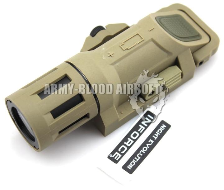 ФОТО Night-Evolution NE04019 INFORCE WML Weapon Light Tactical Flashlight Weaponlight Multifunction (DE)