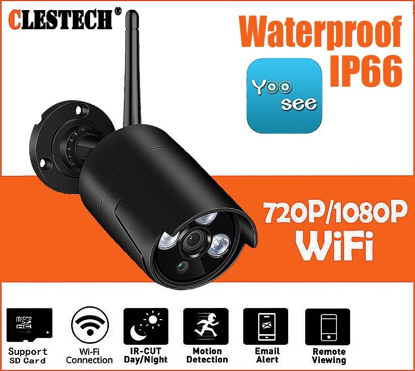 HD Wifi Outdoor IP Camera 1080P Waterproof 2.0MP Wireless Security Camera Metal 3PCS ARRAY SD Card Record Bullet P2P Yoosee app