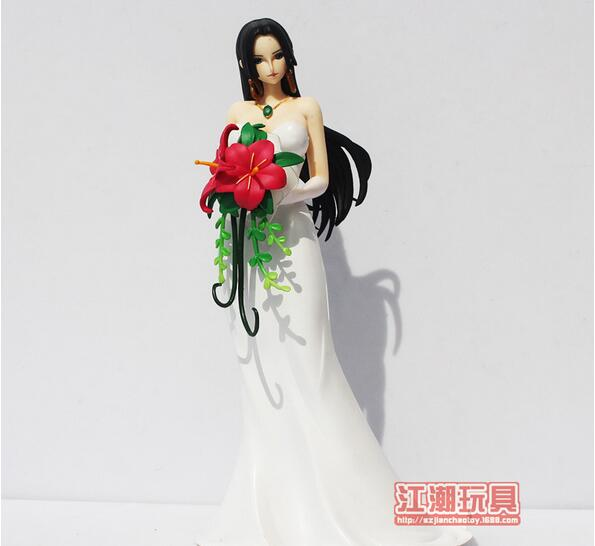 Sexy Baby doll Pvc Anime One Piece Action Figure Boa Hancock Wedding See Attractive Charming Statuette Toy Model Collection 4parts sets super lovely chopper anime one piece model garage kit pvc action figure classic collection toy doll