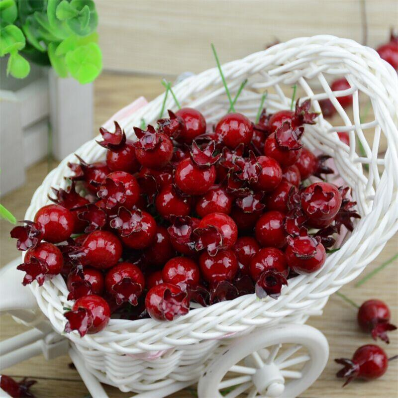 Popular decoration flower buy cheap decoration flower lots for Artificial pomegranate decoration