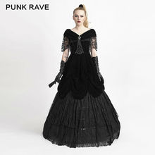 PUNK RAVE Women Gothic Lolita Long Dresses Gorgeous Victorian Style Formal Wedding Palace Rrincess Dress Evening Party Dress цена 2017