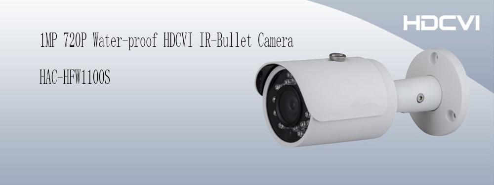 Free Shipping DAHUA HDCVI Camera 1MP 720P Waterproof Mini IR HDCVI Bullet Camera IP66 Without Logo HAC-HFW1100S dahua waterproof power box without logo pfa140