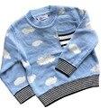 2016 Crianças Blusas Para Menina Meninos Cardigan Grosso Listras Cloude Bobo Choses Crianças Pullovers Jumper de Bebê Outono Inverno Do Vintage