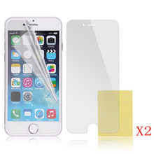 Luxury Retro Flip Leather Wallet Phone Case + 2Pcs Screen Protector for iphone 6 4.7″ inch
