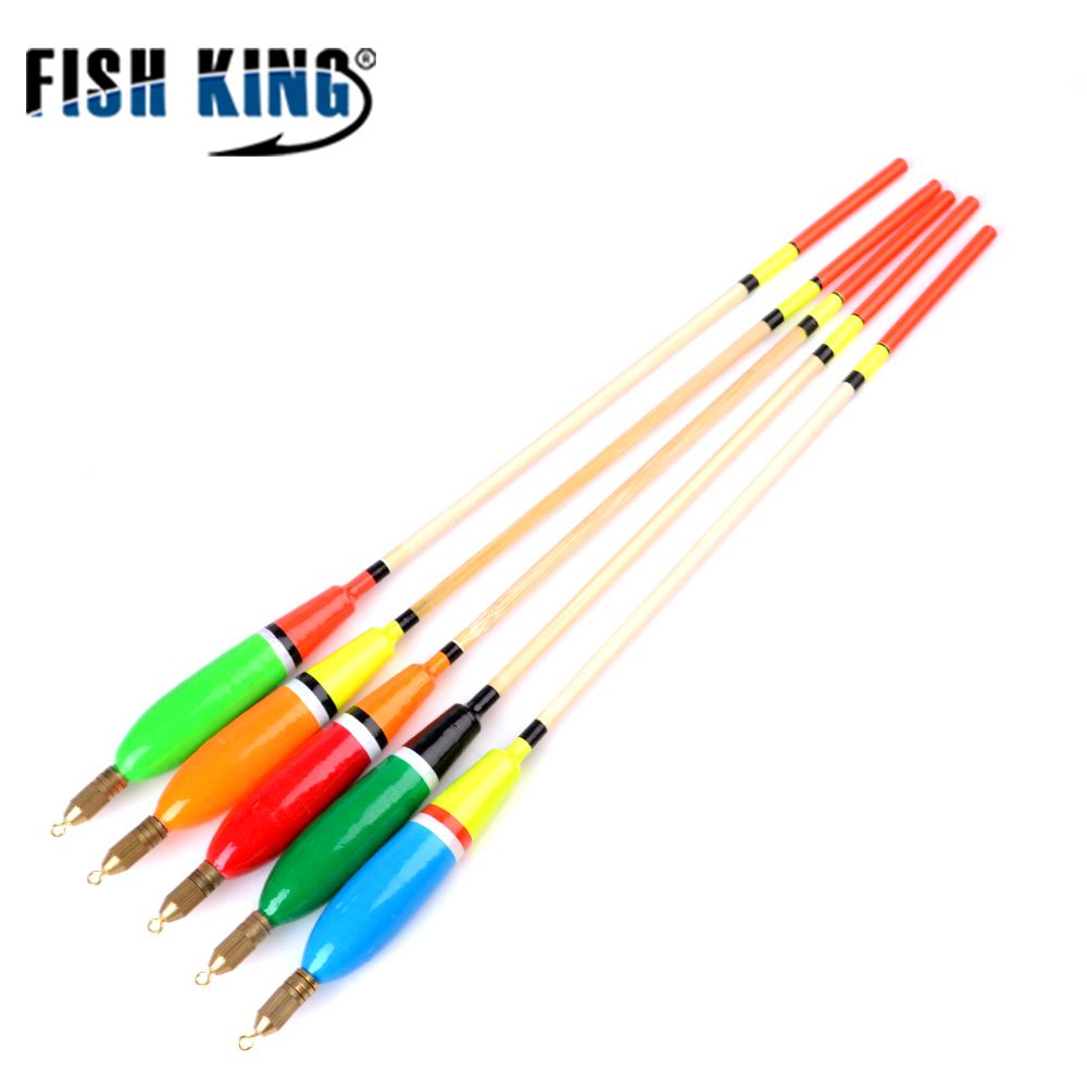 FISH KING 5pcs Mixed Color Barguzinsky Fir Float 3+2g/4+2g/5+2g/6+2g Fishing Float Bobber Buoy Carp Fishing Fishing Tackle(China)