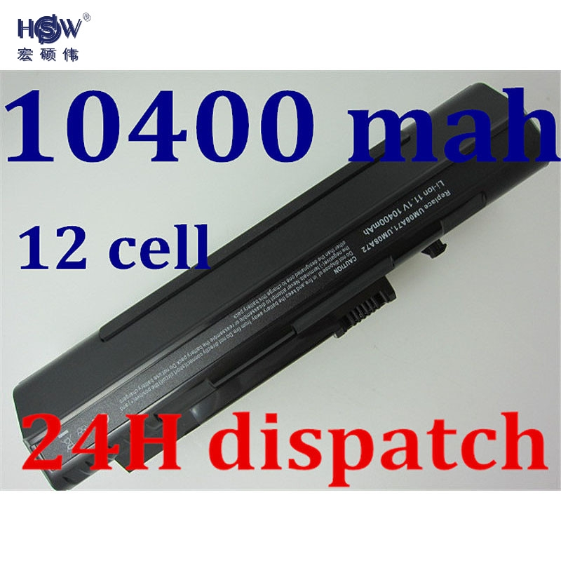 HSW BLACK Battery 10400mah 11.1v laptop battery for Acer Aspire One A110 A150 ZG5 UM08A71 UM08A72 UM08A73 UM08B74 UM08A31 12cell