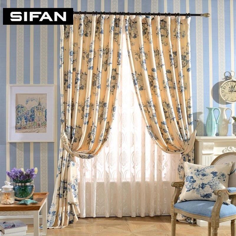 impression de rideaux occultants fantaisie rideaux de fenetre pour la chambre a coucher pour le salon tulle rideaux sur mesure