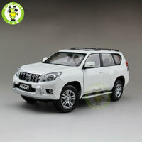 1 18 Toyota Land Cruiser Prado Diecast SUV Car Model Toys For Gifts Collection Hobby White
