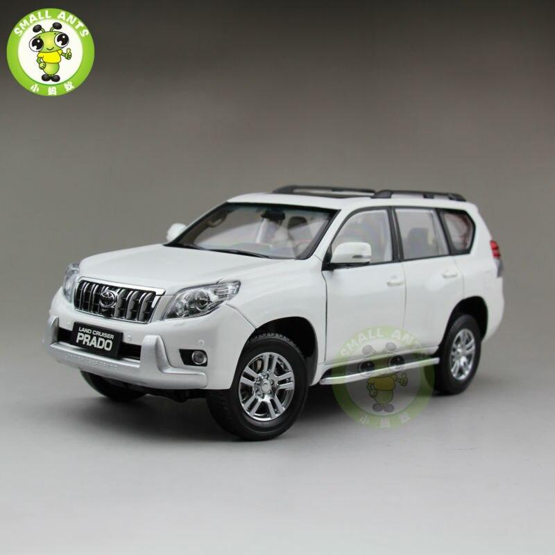 1/18 Toyota Land Cruiser Prado moulé sous pression SUV voiture modèle jouets pour cadeaux collection passe-temps blanc sans motif