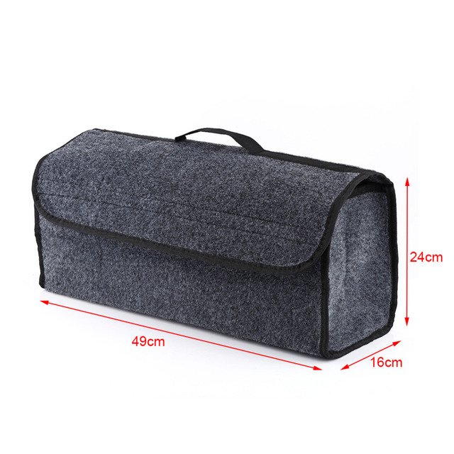 Collapsible Car Seat Back Rear Storage Bag Trunk Organizer Holder Pocket Hanger Pouch Gray