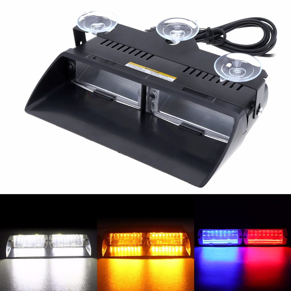 12V DC Waterproof 16LED 48W Viper S2 Super Bright Signal Flashing Led Warning Light Police Strobe Flash Emergency Lights free shipping super bright car warning lights viper s2 16pcs led blinking light