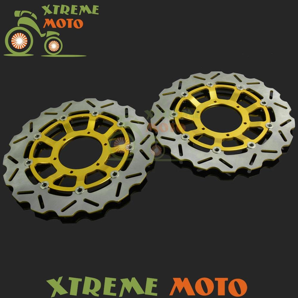 2 шт золото мотоцикл передняя плавающей Тормозной диск ротора для ЦБ РФ 1000 рублей CBR1000RR CBR1000RR 08-13 АБС 09-13 Мотокросс Байк