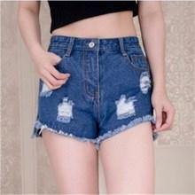 купить jeans shorts plus size high waisted womens korean fashion pants ripped jeans 2019 summer women clothing pockets street style дешево