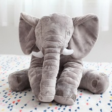 Toy 40cm/60cm Height Large Plush Elephant Doll Kids Sleeping Back Cushion Cute Stuffed Elephant Baby Accompany Doll Xmas Gift