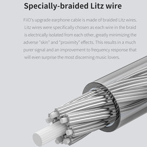 Image 2 - FiiO LC 2.5D LC 3.5D LC 4.4D High Purity Monocrystalline Sterling Silver Litz Earphone Cable for F9 PRO FH1 M11 LC 3.5D