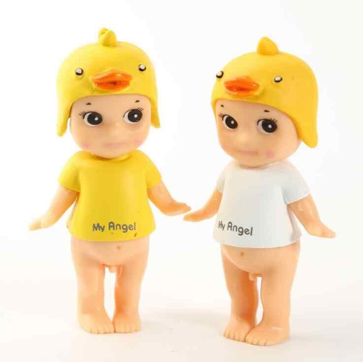 Мини кукла-сыночек Ангел Дьявол Купидон ПВХ Животное Лошадь Единорог утка фигурки торта детские игрушки милые украшения автомобиль