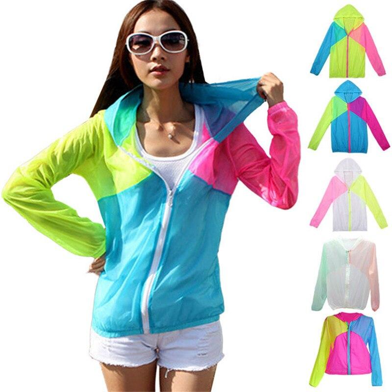 Transparente De Azul Playa Manga amarillo Sudaderas Ropa rojo Sol 5505 blanco Camisa Mujeres Larga Proteger fqPnPFBz