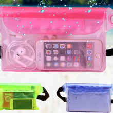 Multipurpose22x15.5cm прозрачный ПВХ Сёрфинг Сумки мобильного телефона Водонепроницаемый талии сумка Одежда заплыва дрейфующих смартфон Сумки