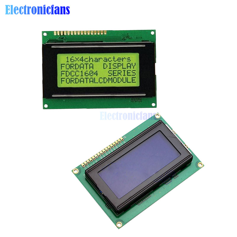 1604 16X4 16*4 Character LCD Module Display Screen LCM Yellow / Blue With LED Backlight SPLC780 HD44780 Controller