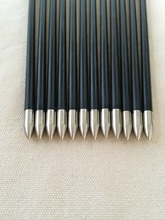 Free shipping 12 Pcs 30 Fiberglass arrow ID4 2 OD6mm Spine700 with 2 plastic vane for