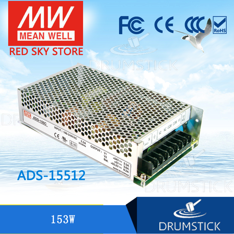ФОТО Redsky1 [MJYW] Selling Hot! MEAN WELL original ADS-15512 12V meanwell ADS-155 153W Single Output with 5V, 3A DC-DC Converter