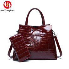 Fashion Women Composite Bag Stone Pattern Shoulder Messenger Handbag Ladies Hand Bags Crossbody for