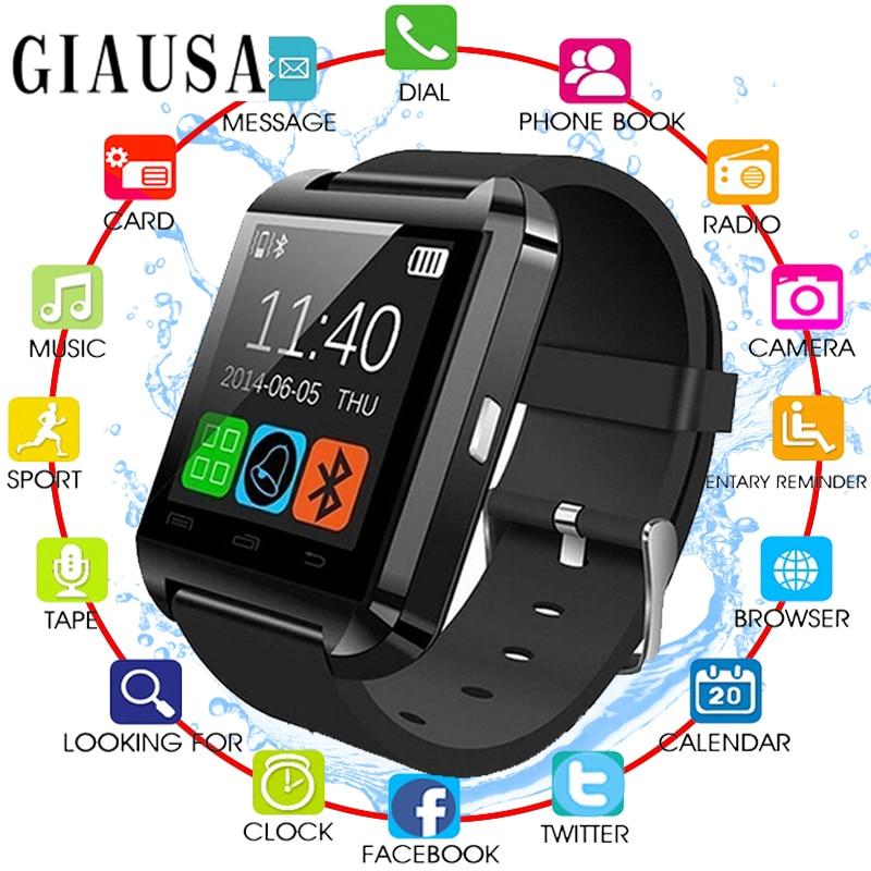 New Smartwatch Bluetooth Smart Watch U8 For IPhone IOS Android Smart Phone Wear Clock Wearable Device Smartwach PK GT08 DZ09
