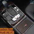 Aplicável Audi A6 tira linha de artes decorativas caixa de engrenagens A7 A6 C7 copo interior brilhante fibra de carbono modificado