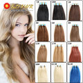 Remy Tape Human Hair Extensions Virgin Brazilian PU Seamless Skin Weft Extension Blonde Color 20PCS 16-24 inch Whole Sale Price