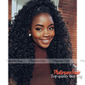 Hot! 180 Density Thick Hair Afro Kinky Curly Heat Resistant Wigs With Baby Hair Curly Synthetic Lace Front Wig For Black Women