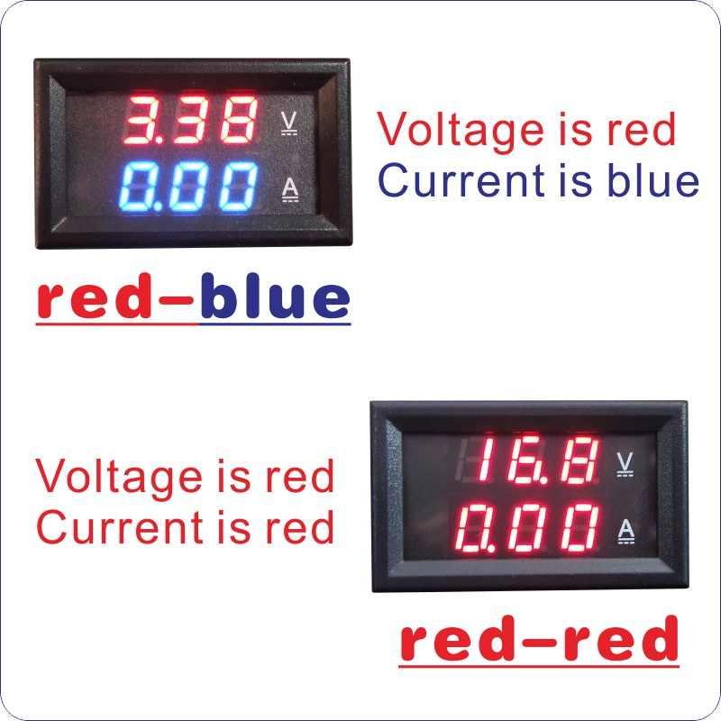 Voltmeter 100V Amperemeter 200A mit Shunt Anzeige Digital Spannung Strom Panel