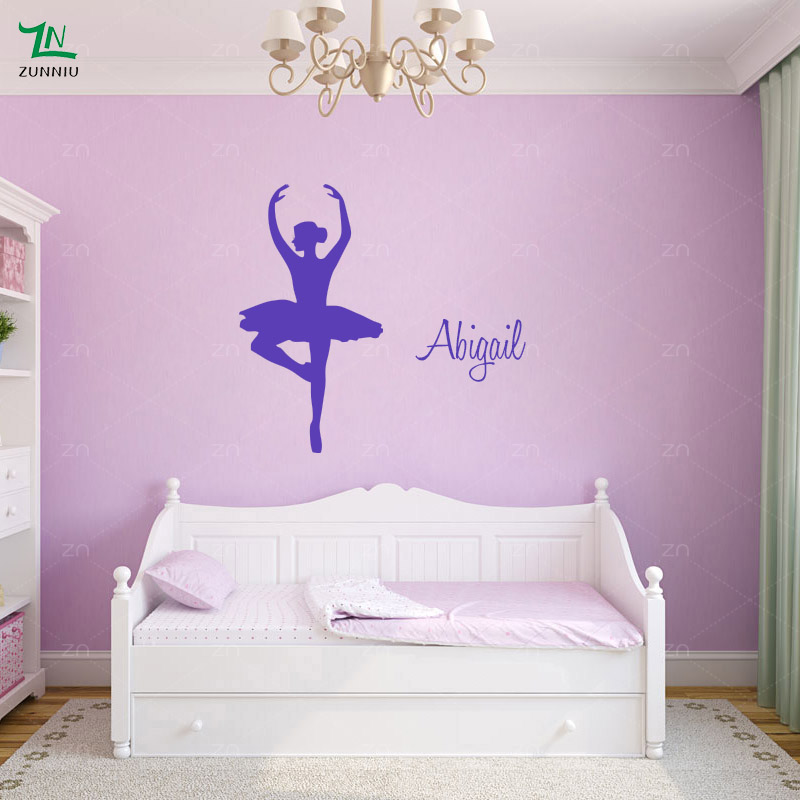 Hearty Girl Dancer Ballet Shoes Wall Decal Dancing Ballerina Shoes Sticker Personalized Custom Name Kids Room Girl Bedroom Mural Ea856 Reputation First Wall Stickers