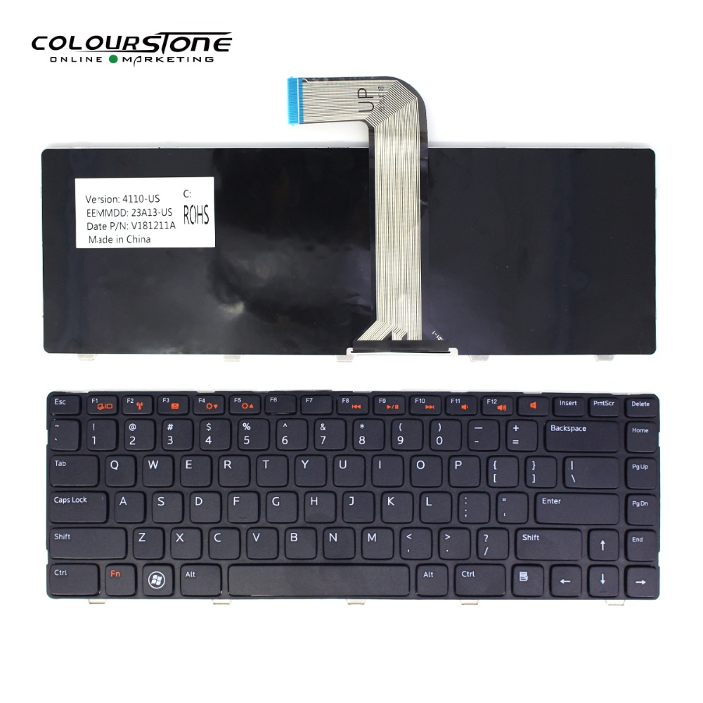 US Laptop <font><b>keyboard</b></font> for <font><b>Dell</b></font> Inspiron 14R N4110 M4110 N4050 M4040 <font><b>3520</b></font> 5420 5520 L502X M5040 M5050 N5050 N5040 TECLADO image